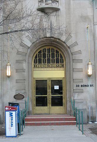 St. Michael's Hospital (Toronto) - St. Michael's Hospital - Art Deco Bond Street entrance