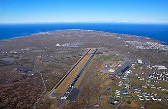 Keflavík International Airport - Image: SSJ100 Keflavik runways (5160518757)