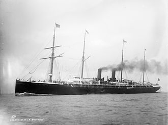 SS La Bretagne - La Bretagne as she appeared c. 1890–1895
