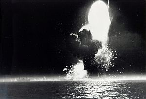 UG convoys - The explosion of SS Paul Hamilton on 20 April 1944.