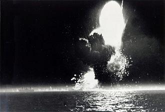 UG convoys - The explosion of SS Paul Hamilton on 20 April 1944.
