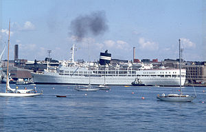Uganda in Helsinki's South Harbour in the late 1970's or early 1980's