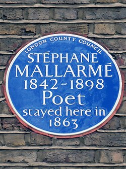 Photo of Stéphane Mallarmé blue plaque