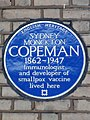 SYDNEY MONCKTON COPEMAN 1862-1947 Immunologist and developer of smallpox vaccine lived here.jpg