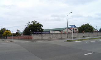 Sacred Heart Basilica, Timaru - The neighbouring Sacred Heart Primary School, directly opposite across Craigie St