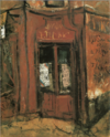 SaekiYūzō-1927-Entrance of a Bar.png