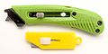 Safety cutter and simple box cutter blades extended.jpg