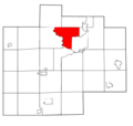 Saginaw County Michigan townships Saginaw highlighted.png