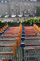 Sainsbury's trolleys, Bath Green Park - geograph.org.uk - 981540.jpg