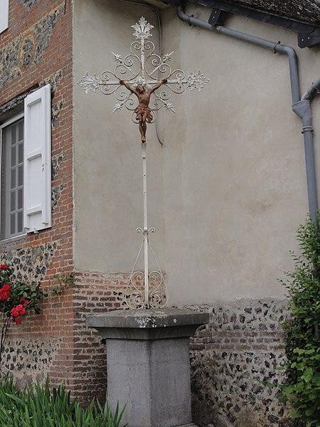 Saint-Algis (Aisne) croix de chemin en fer