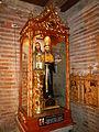 Saint Augustine of Hippo image at the Minalin Church in Pampanga, Philippines.jpg