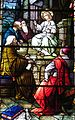 Saint Julie Billiart Catholic Church (Hamilton, Ohio) - stained glass, Christ Among the Doctors, detail.jpg