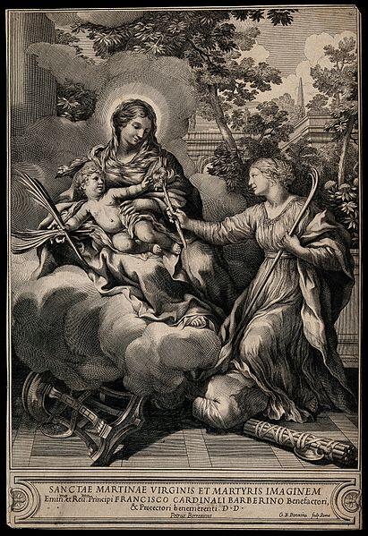 File:Saint Martina. Engraving by G.B. Bonacina after Pietro Berre Wellcome V0032619.jpg