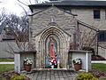 Saint Michael the Archangel (Findlay, Ohio - downtown) exterior, shrine to Our Lady of Guadalupe.jpg