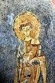 San lorenzo in insula, cripta di epifanio, affreschi di scuola benedettina, 824-842 ca., cristo benedicente alla greca tra i ss. lorenzo e stefano 06.jpg