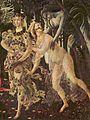 Sandro Botticelli (Primavera) Chloris and Zephyrus made Flora.jpg