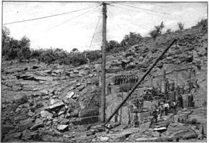 Seneca Quarry - Historical photo of the quarry c. 1898