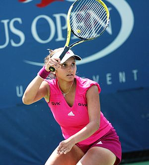 Sania Mirza - Sania Mirza at the 2010 US Open