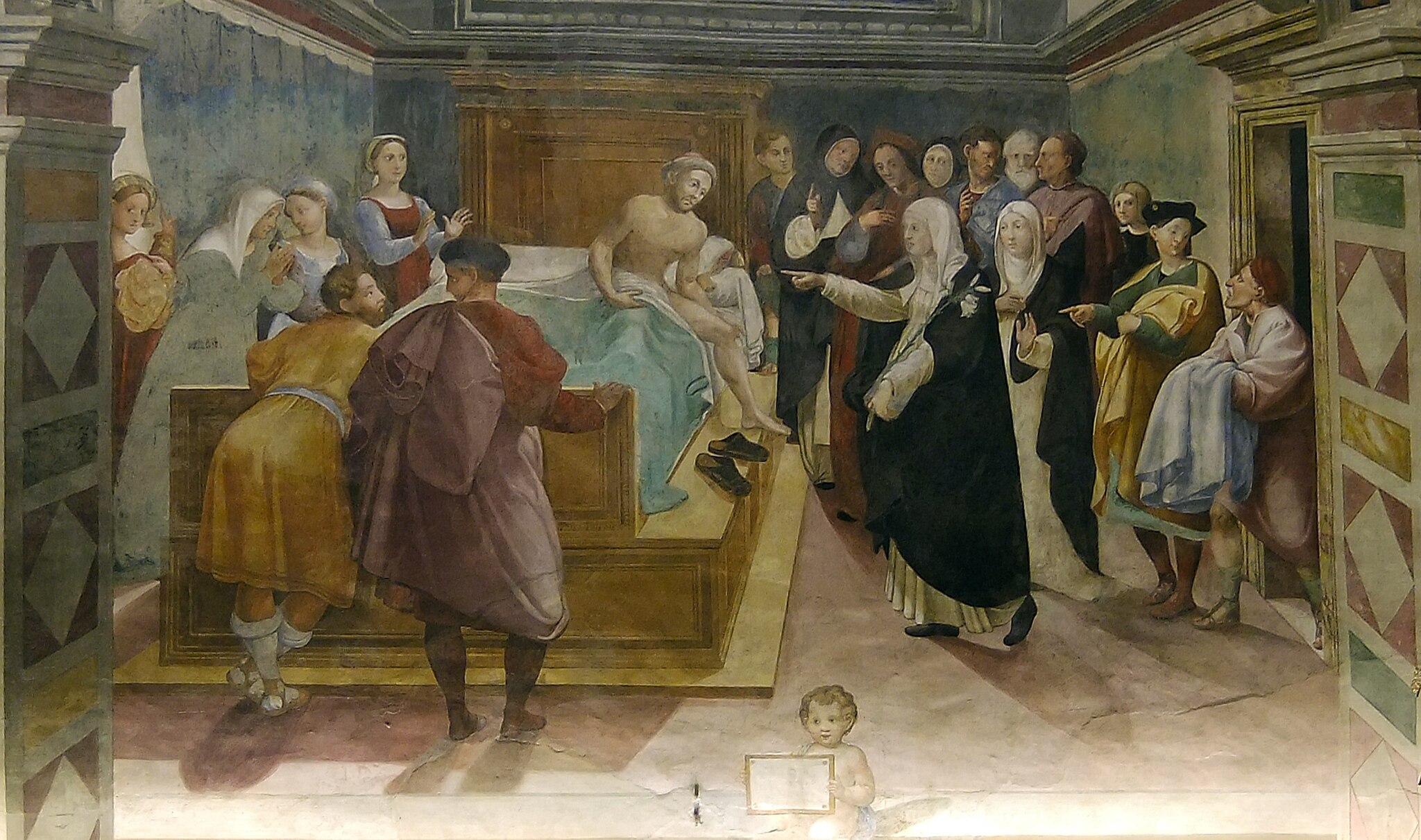 Santa Caterina guarisce Matteo Cenni