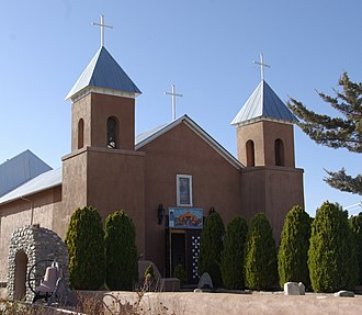 Santa Cruz, New Mexico - The Catholic church in Santa Cruz, probably built in 1733 or not long after, is the biggest and has been considered the best mission church in New Mexico.