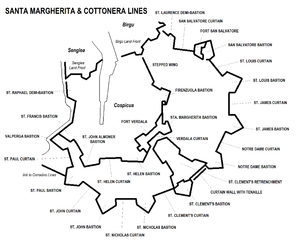 Santa Margherita & Cottonera Lines map.png