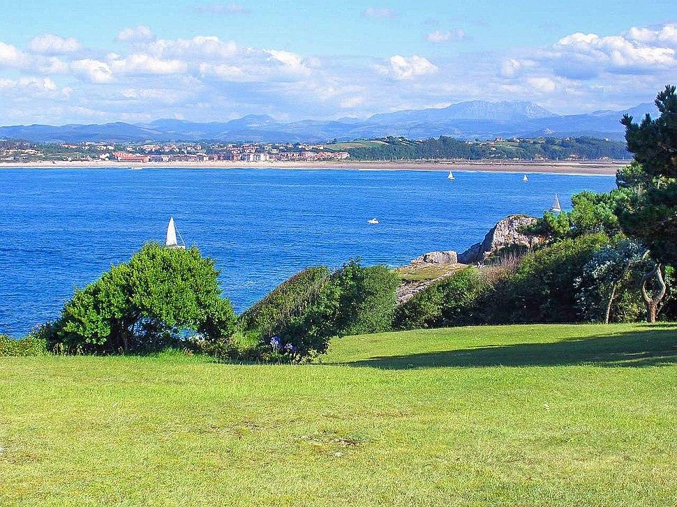 Baía de Santander, vista desde a península da Magdalena