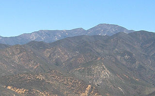 Santiago Peak mountain in United States of America