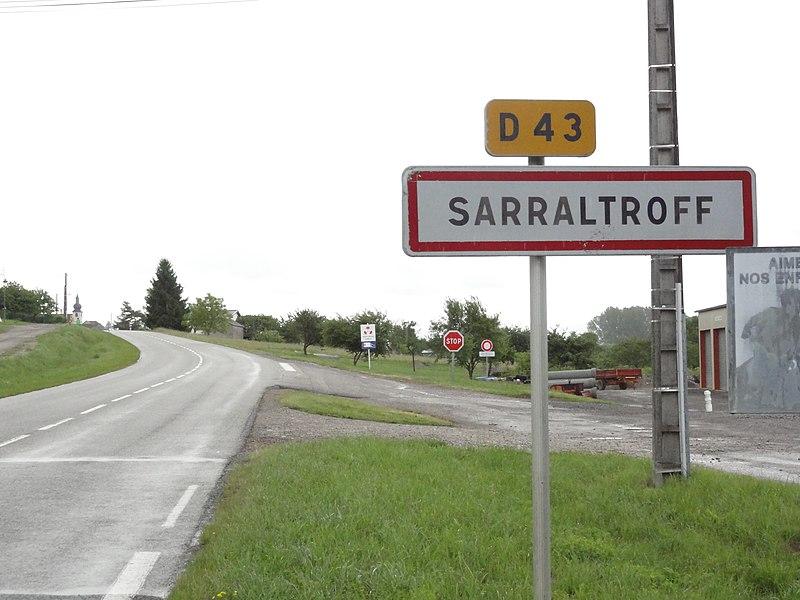 Sarraltroff (Moselle) entrée