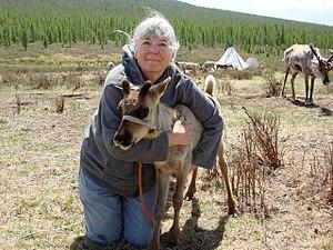 Sas Carey - Image: Sas Carey with Reindeer