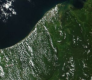 Outline of Brunei - An enlargeable satellite image of Brunei