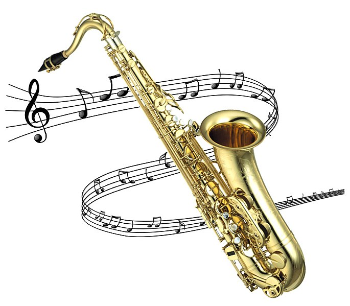 File:Saxophone with Notes.jpg