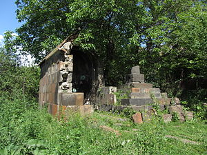 Avan District - The remains of the Holy Mother of God Chapel of Avan, 4th century