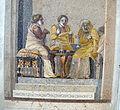 Scena di commedia, musici consultazione della fattucchiera, da villa di cicerone a pompei, 9987, 03.JPG