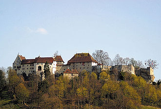 Lenzburg Castle - View of the castle from the north