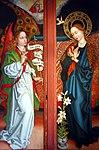 Schongauer, Martin - Orlier Altar, Proclamation Mariae - 1472 (detail left).jpg
