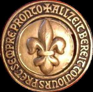 Swiss Guide and Scout Movement - Image: Schweizer Pfadfinderbund Lilie und Wahlspruch