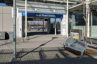 Scott Road station - Scott Road's west entrance provides access to the bus exchange.