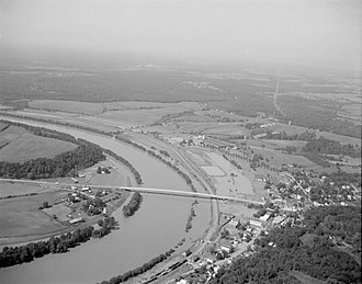 Scottsville, Virginia - Flooding at Scottsville caused by the passage of Hurricane Camille in 1969
