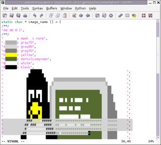 X PixMap - Image: Screenshot xterm linux.xpm GVIM