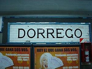 Dorrego (Buenos Aires Underground) - Image: Señalética original en Dorrego