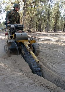 portable trencher machine