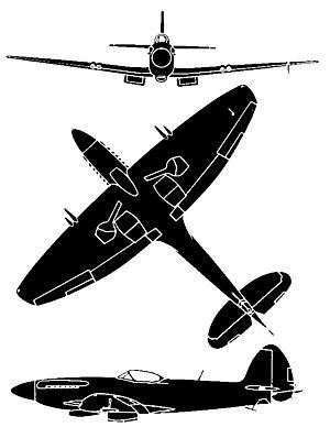 Seafire F17 Silh