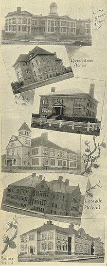 Some Seattle Schools In 1900