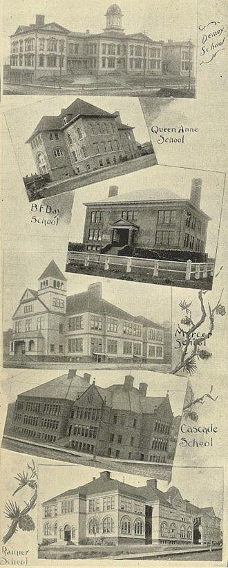 Seattle Public Schools - Six Seattle public elementary schools in 1900.
