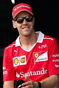 Vettel ved Malaysias Grand Prix 2017.