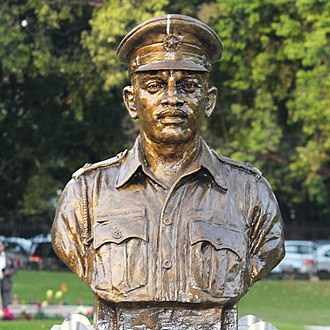 Rama Raghoba Rane - Rane's statue at Param Yodha Sthal, National War Memorial, New Delhi