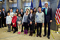 Secretary Kerry Poses for a Photo With 11 Recipients of New 10-Year, U.S.-China Business and Tourism Visa in Beijing.jpg
