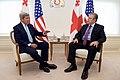 Secretary Kerry Sits with Georgian Prime Minister Kvirikashvilia at the Chancellery in Tbilisi (27510503463).jpg