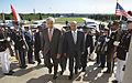 Secretary of Defense Chuck Hagel, left, escorts Yemen's President Abd Rabuh Mansur Hadi, right, through an honor cordon and into the Pentagon in Arlington, Va., on July 30, 2013 130730-D-NI589-024.jpg