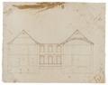 Sektionsritning med gårdsfasad, 1600-tal - Skoklosters slott - 98971.tif